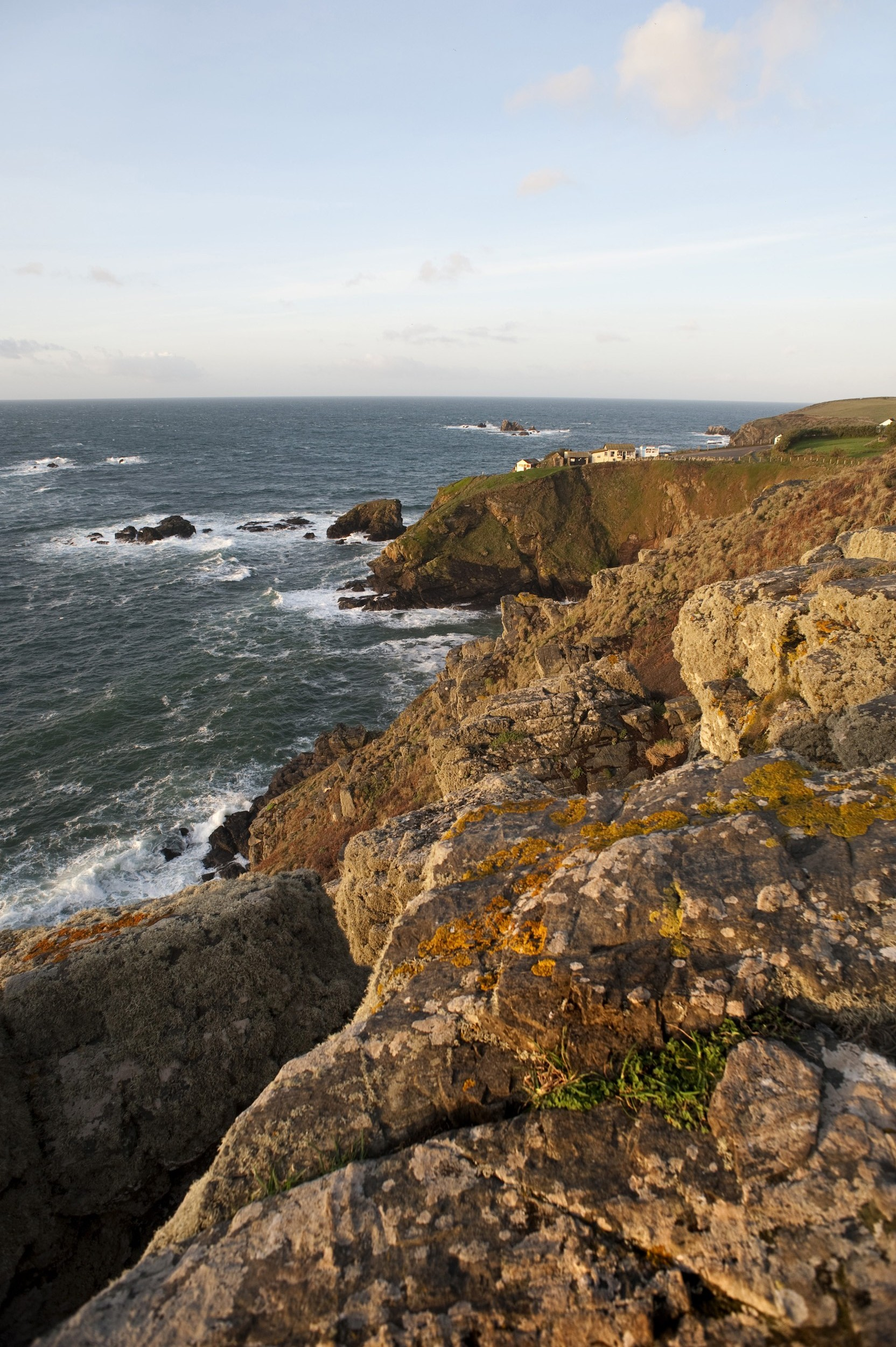The most southerly point of mainland england, Lizard point, marked of course by a gift shop