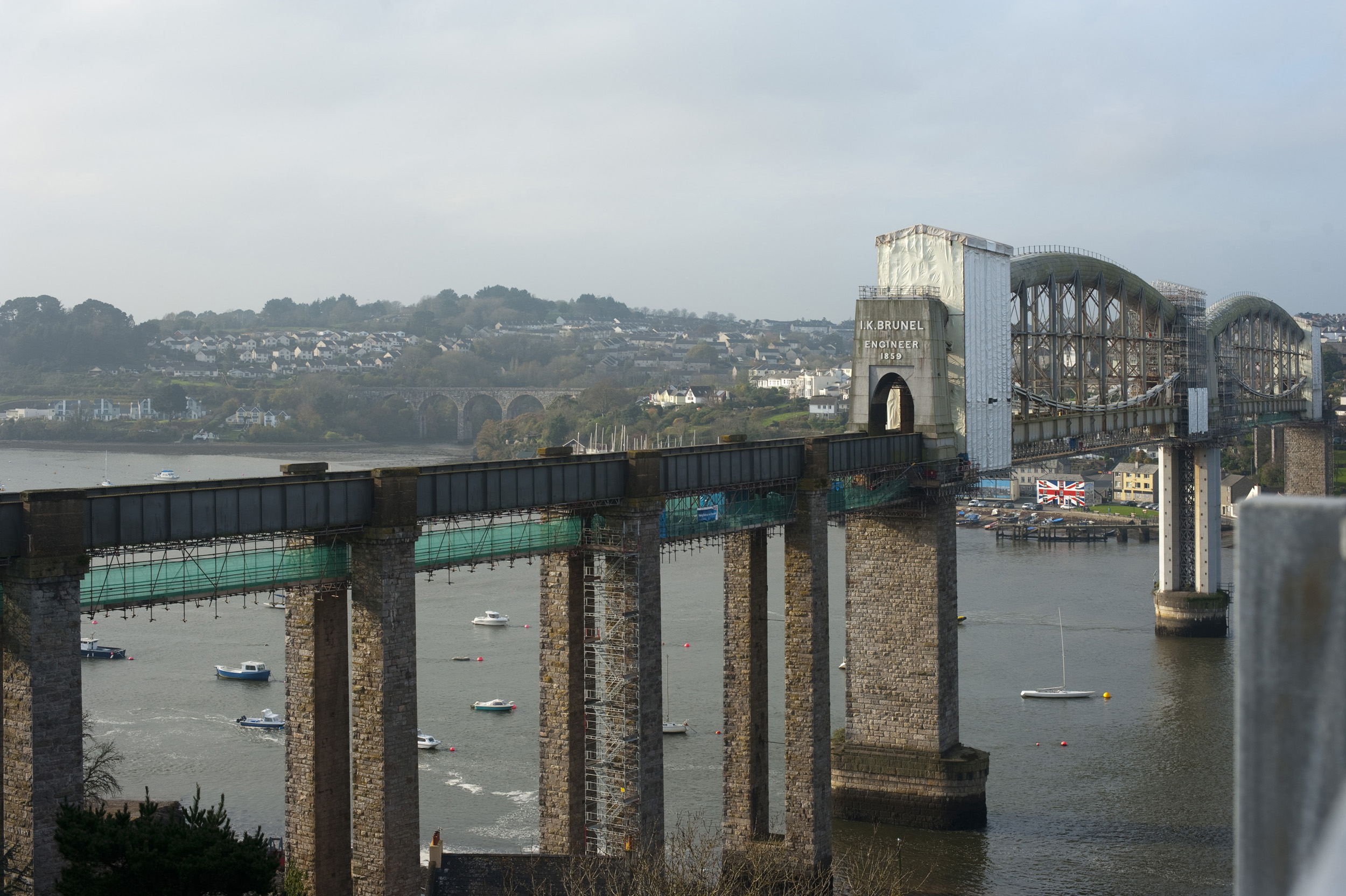 Bridge across the tamar, plymouth england, built by brunel