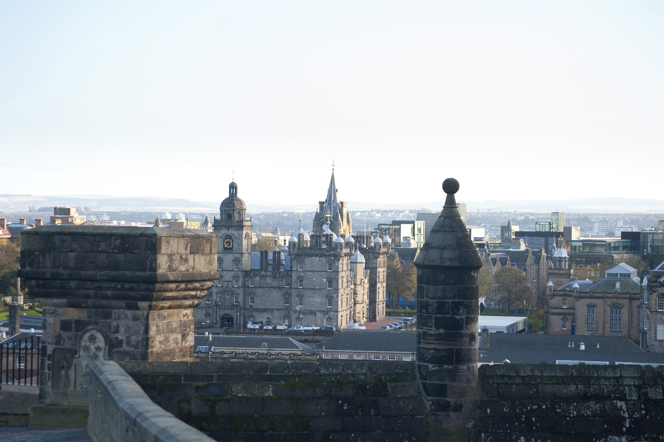 Roof top view of Edinburgh taken from the Castle