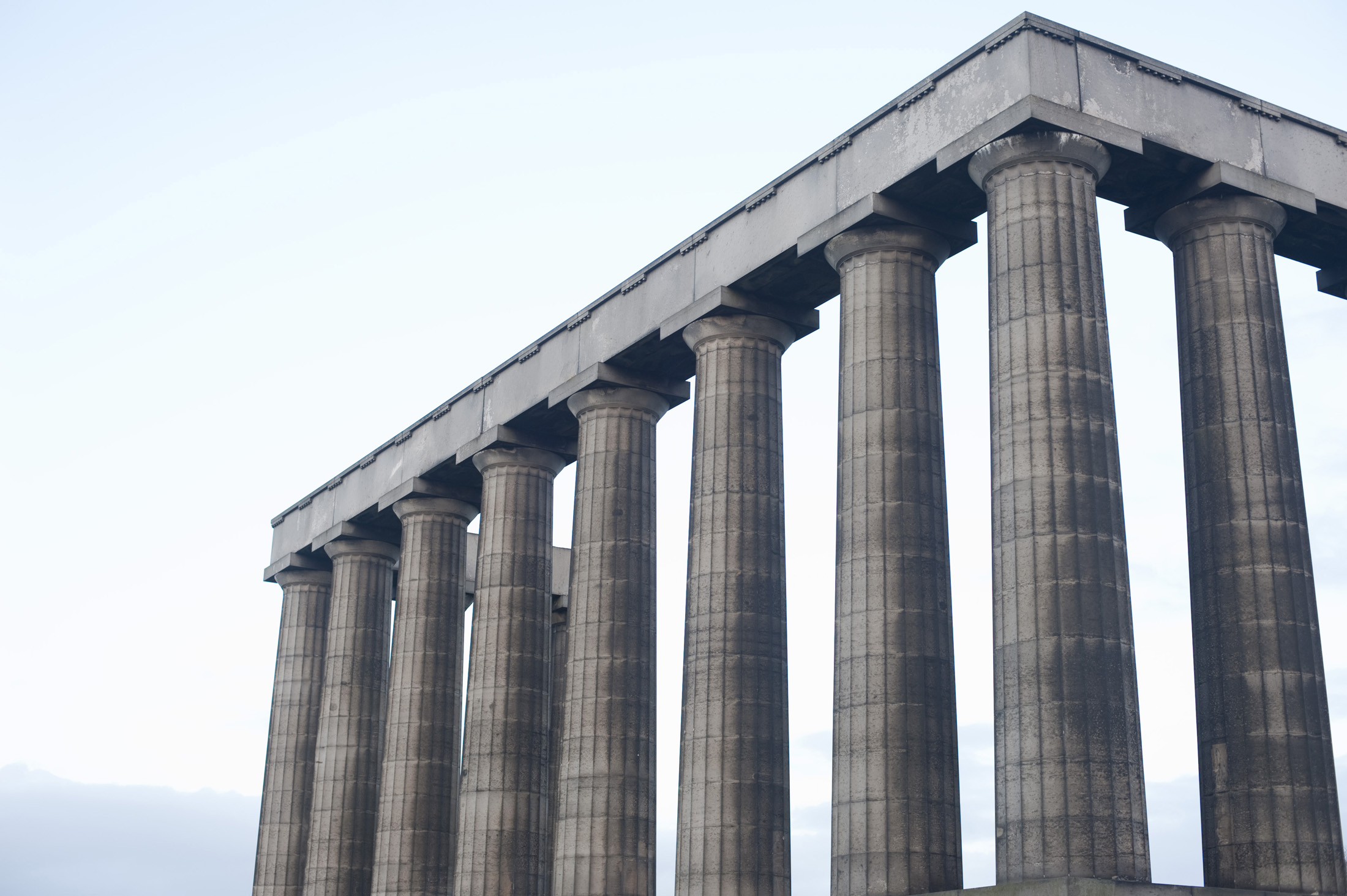 Unfinished National Monument, Calton Hill, Edinburgh, Scotland
