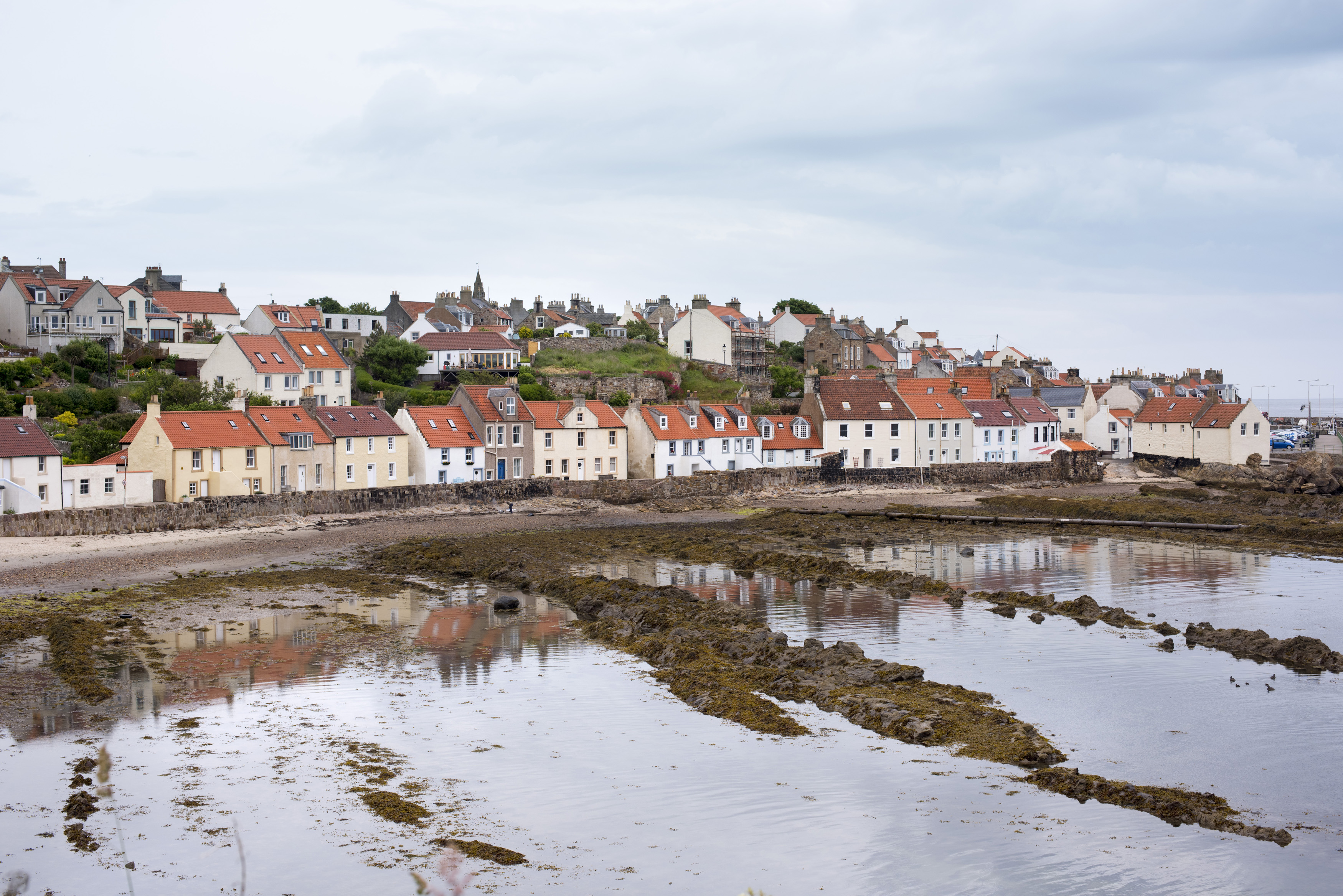 Low tide at Pittenweem, Scotland, a picturesque fishing village on the Fife coast