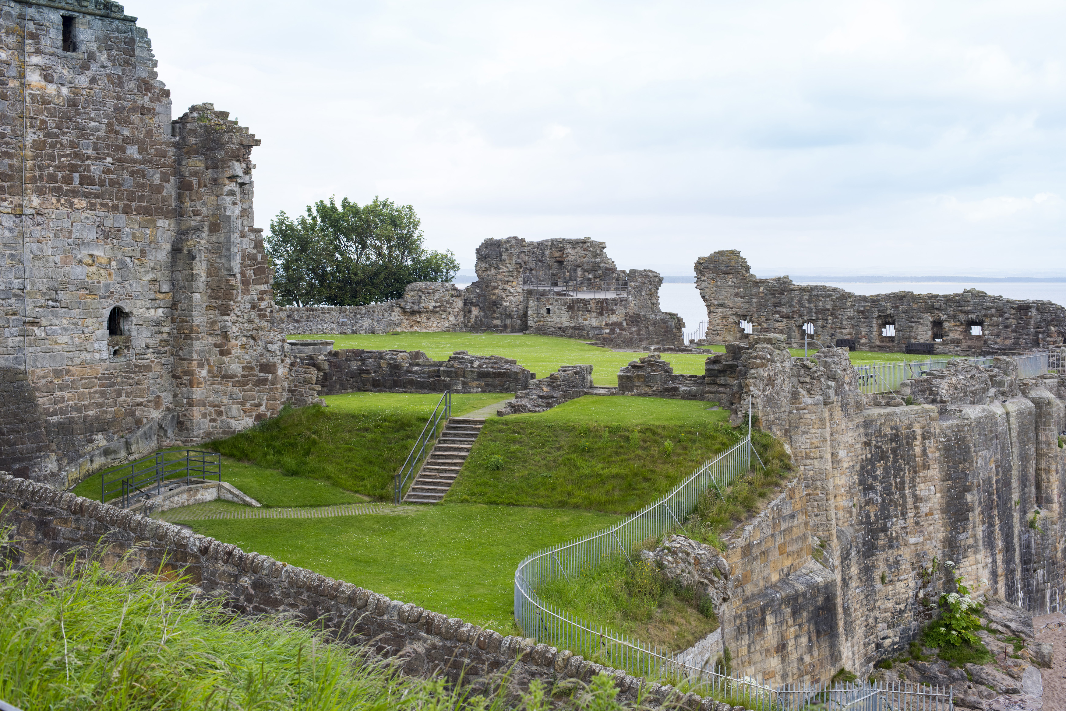 The ruins of Saint Andrews Castle near the fife shoreline, Scotland