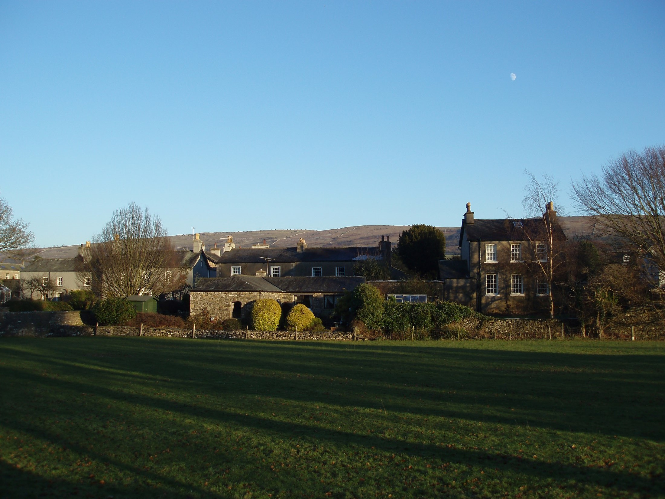 the small village of cartmel, cumbria