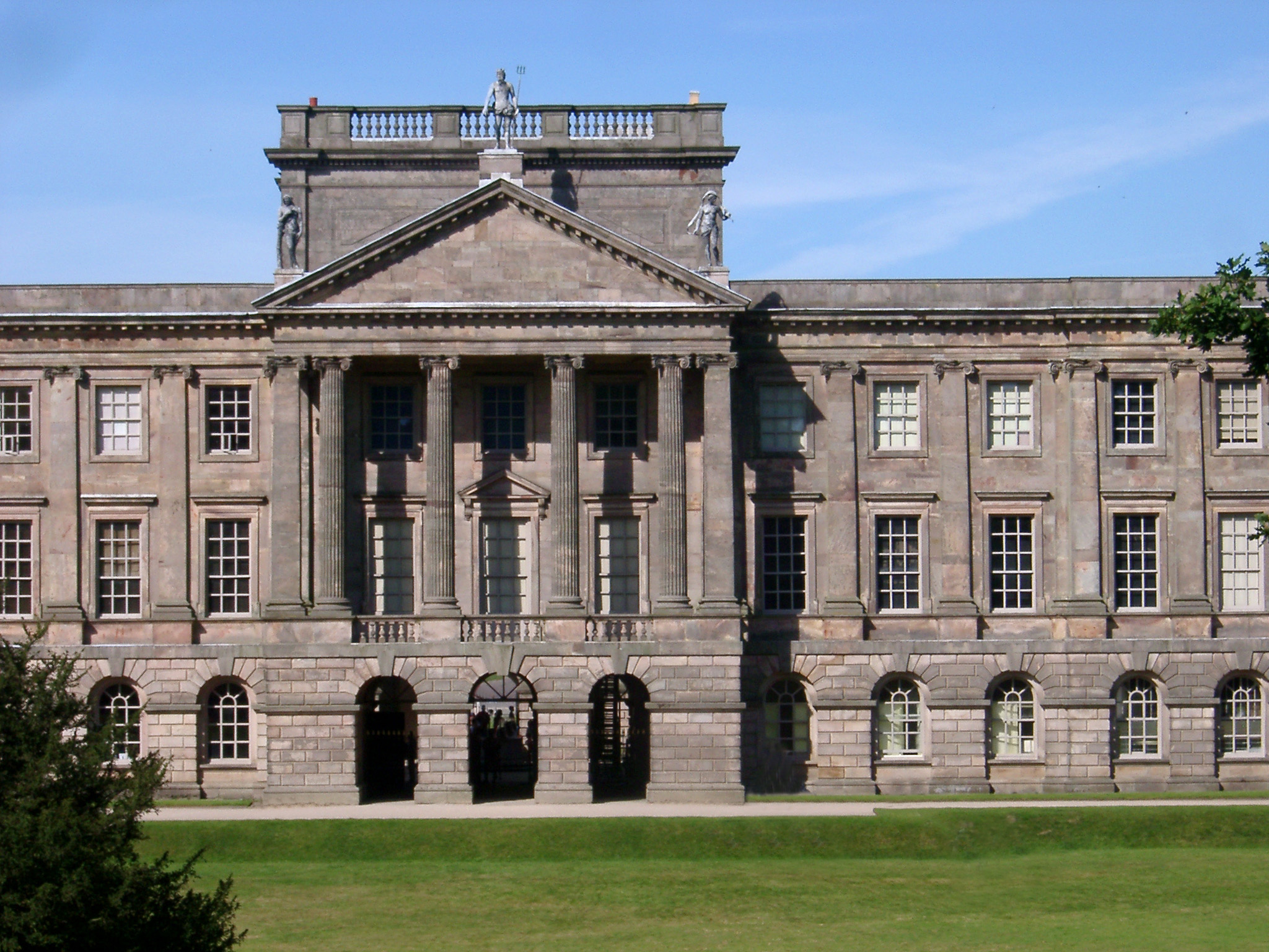 Famous Lyme Park Building, a large estate located south of Disley, Cheshire.