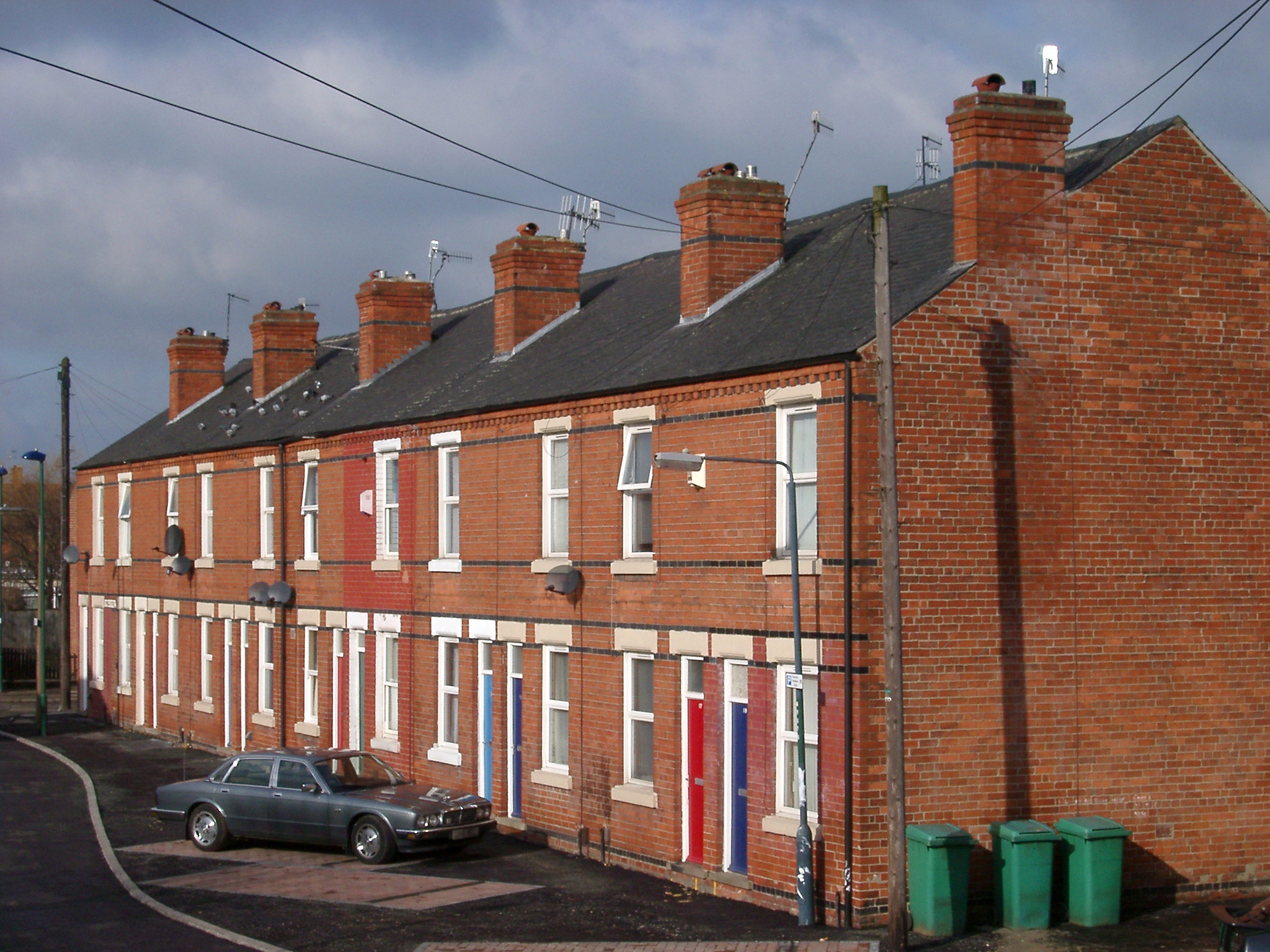 Free stock photo of red brick terraced houses for What is terrace house