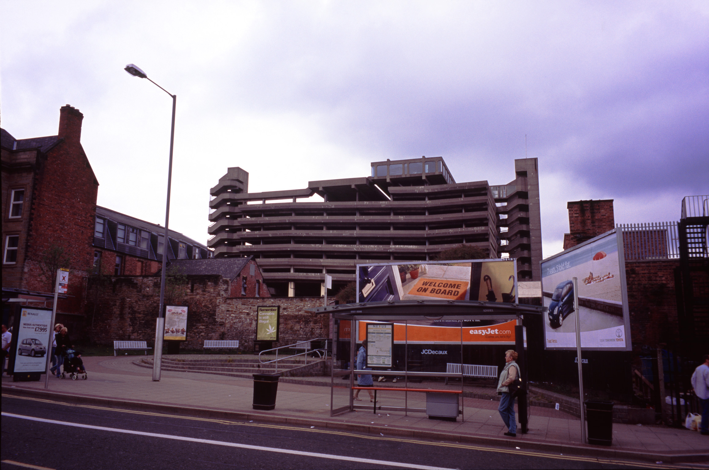 Exterior View of Architectural Building of Trinity Shopping Centre Along the Street in England.