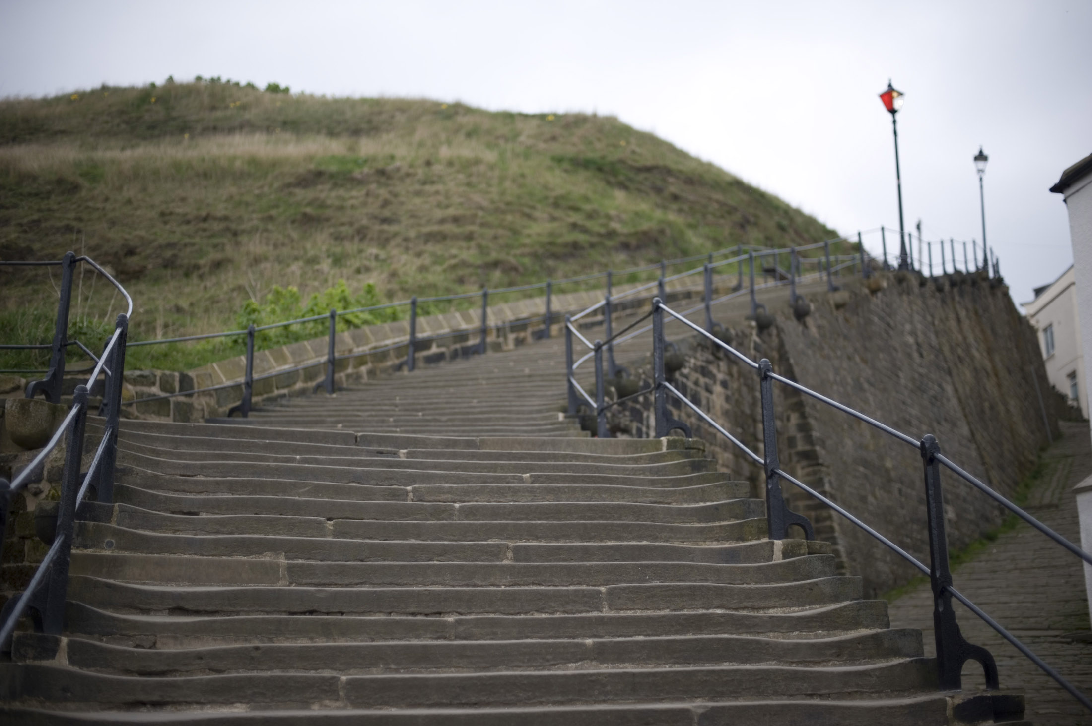 the 199 steps to st marys church are a local whitby landmark
