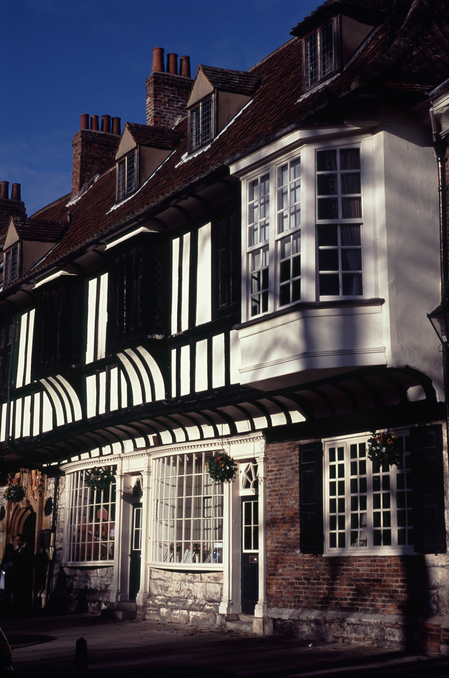 Facade of Traditional Timber Framed Architecture Buildings, York, England