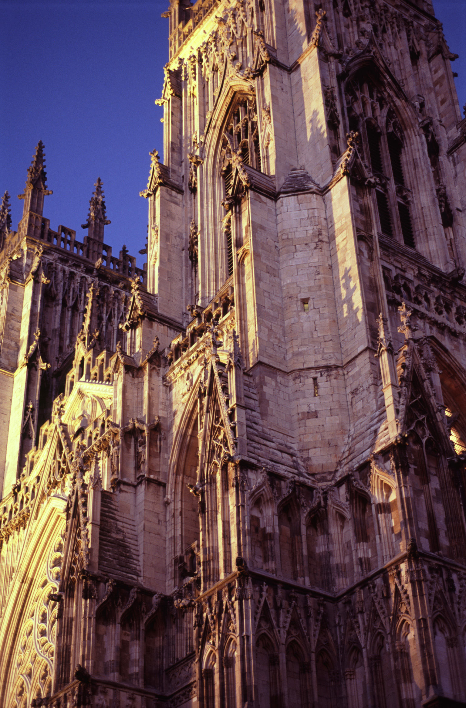 Architectural History of York Minster in York, England, Captured During Evening.