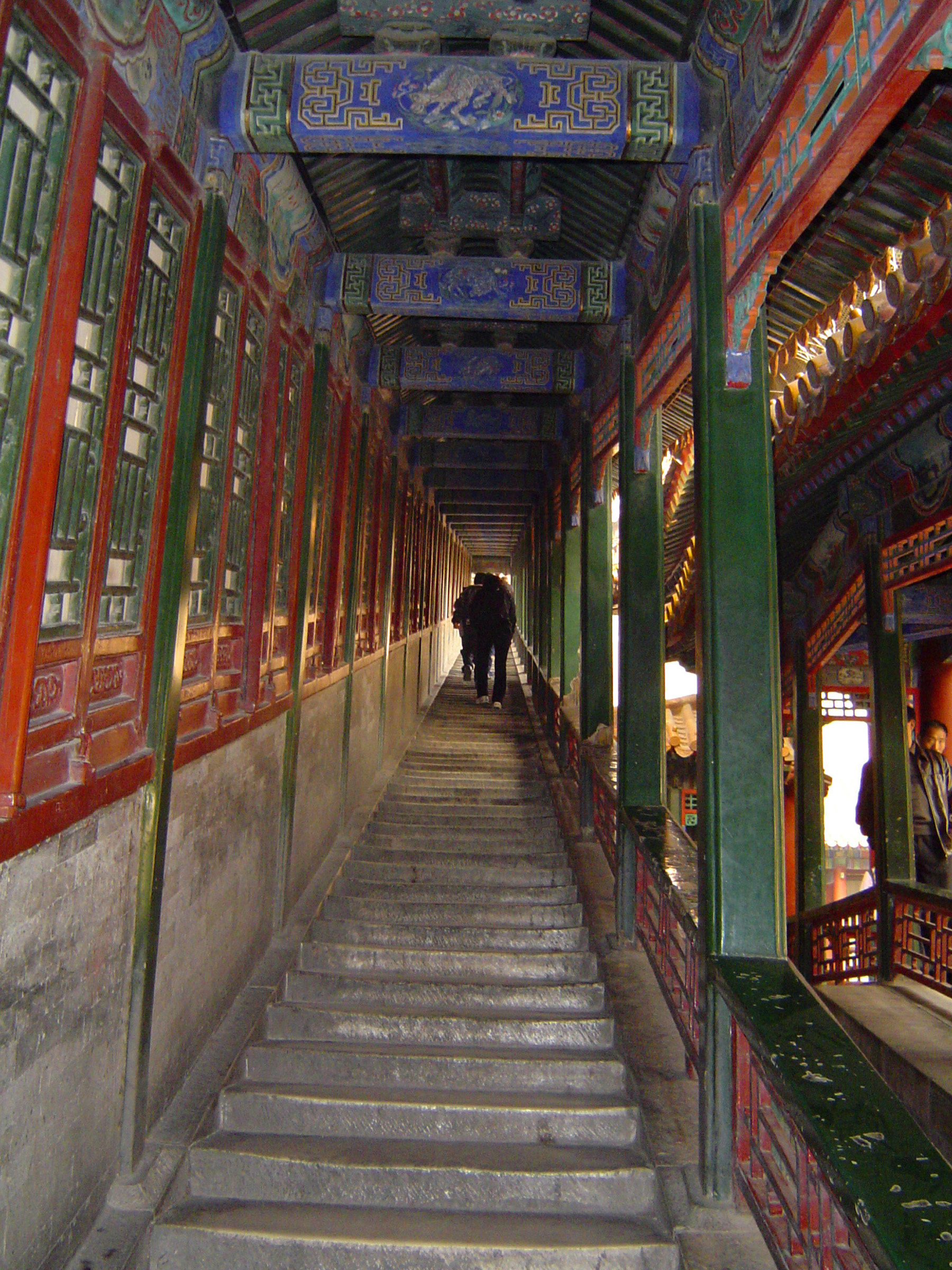 Walkway with Decorations at a Temple in China