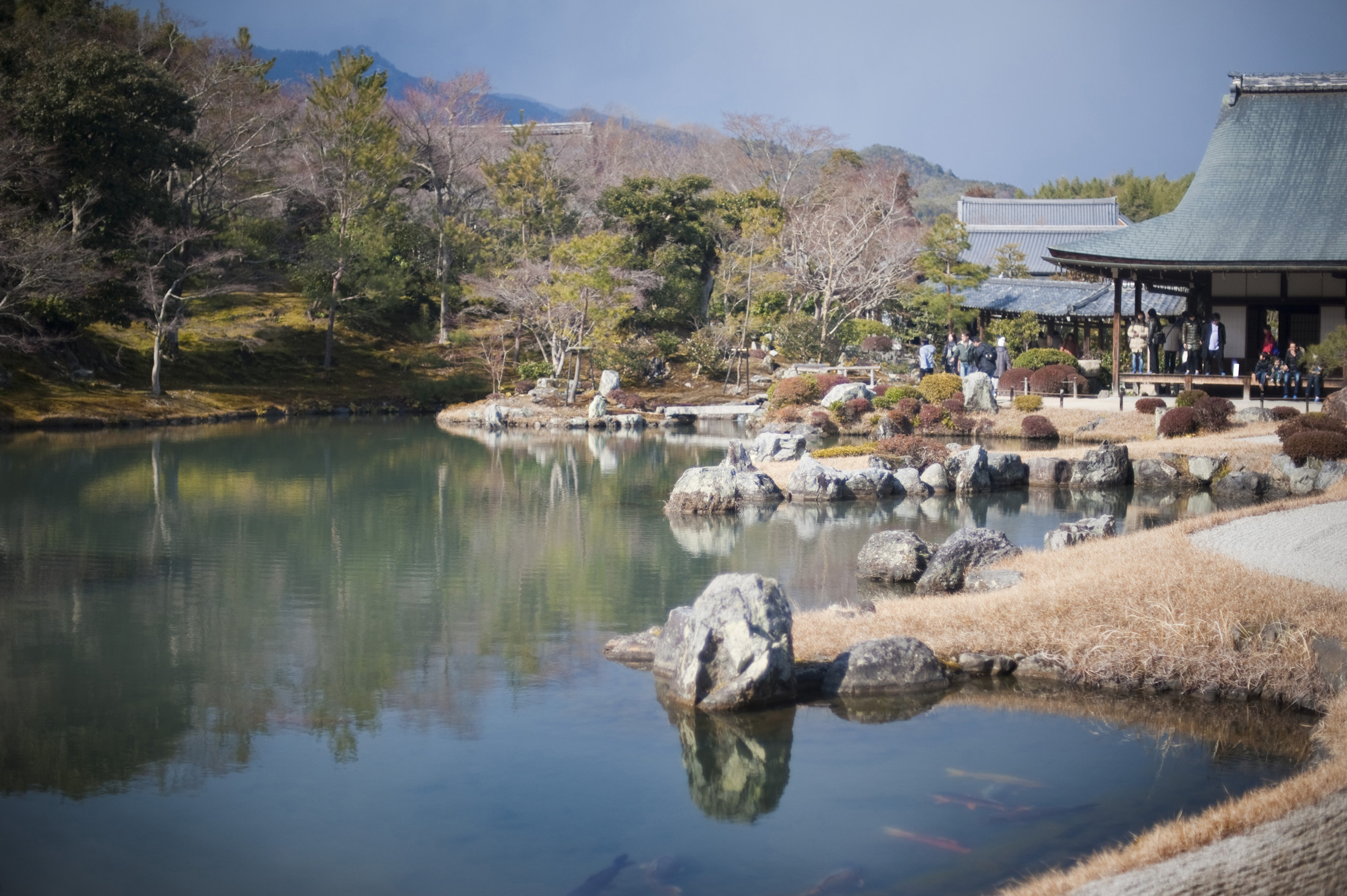 The Sogen Pond at the Tenryu Shiseizen-ji temple complex