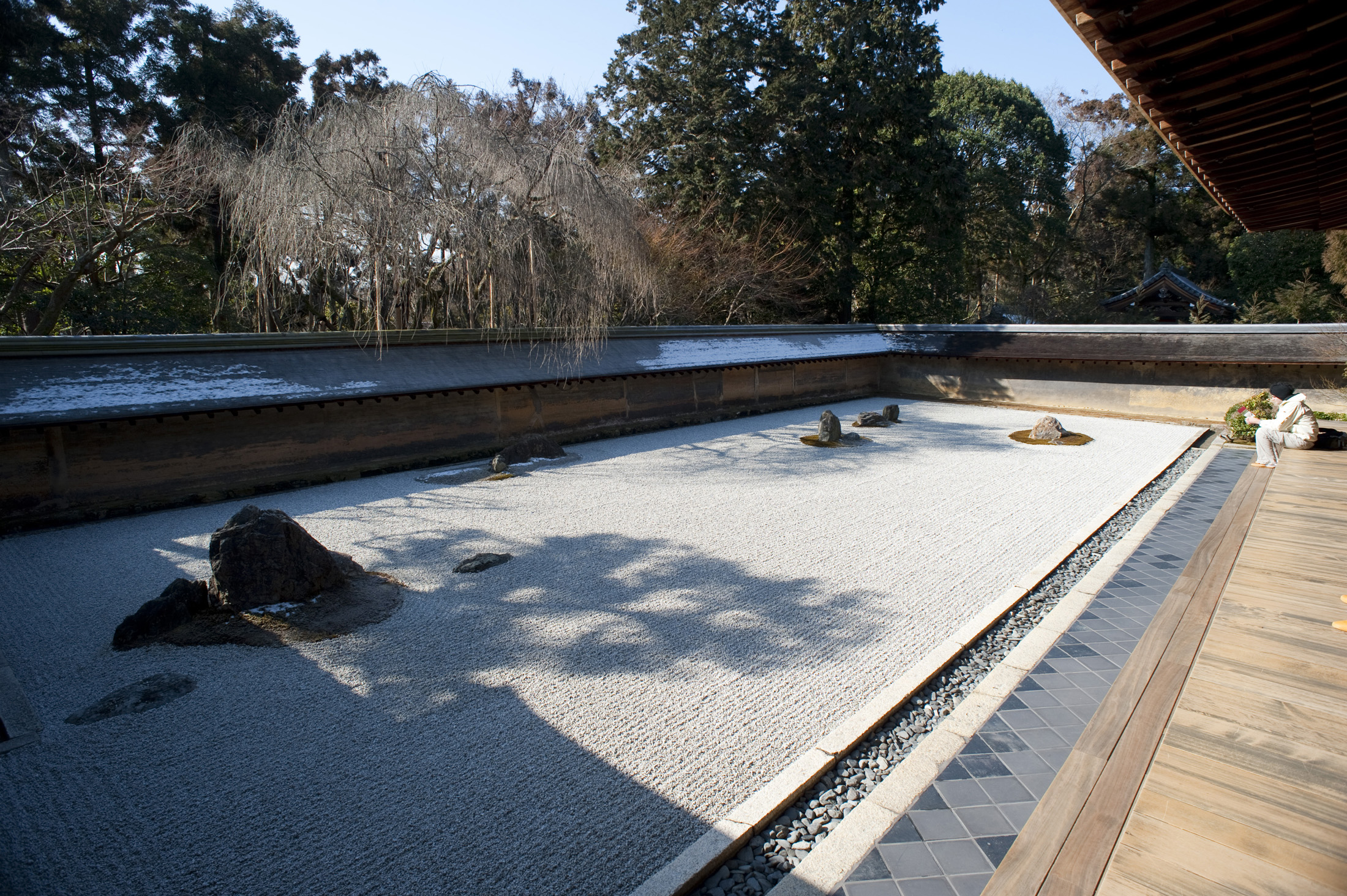Zen gravel garden view from windows habitat lunar Pictures of zen rock gardens