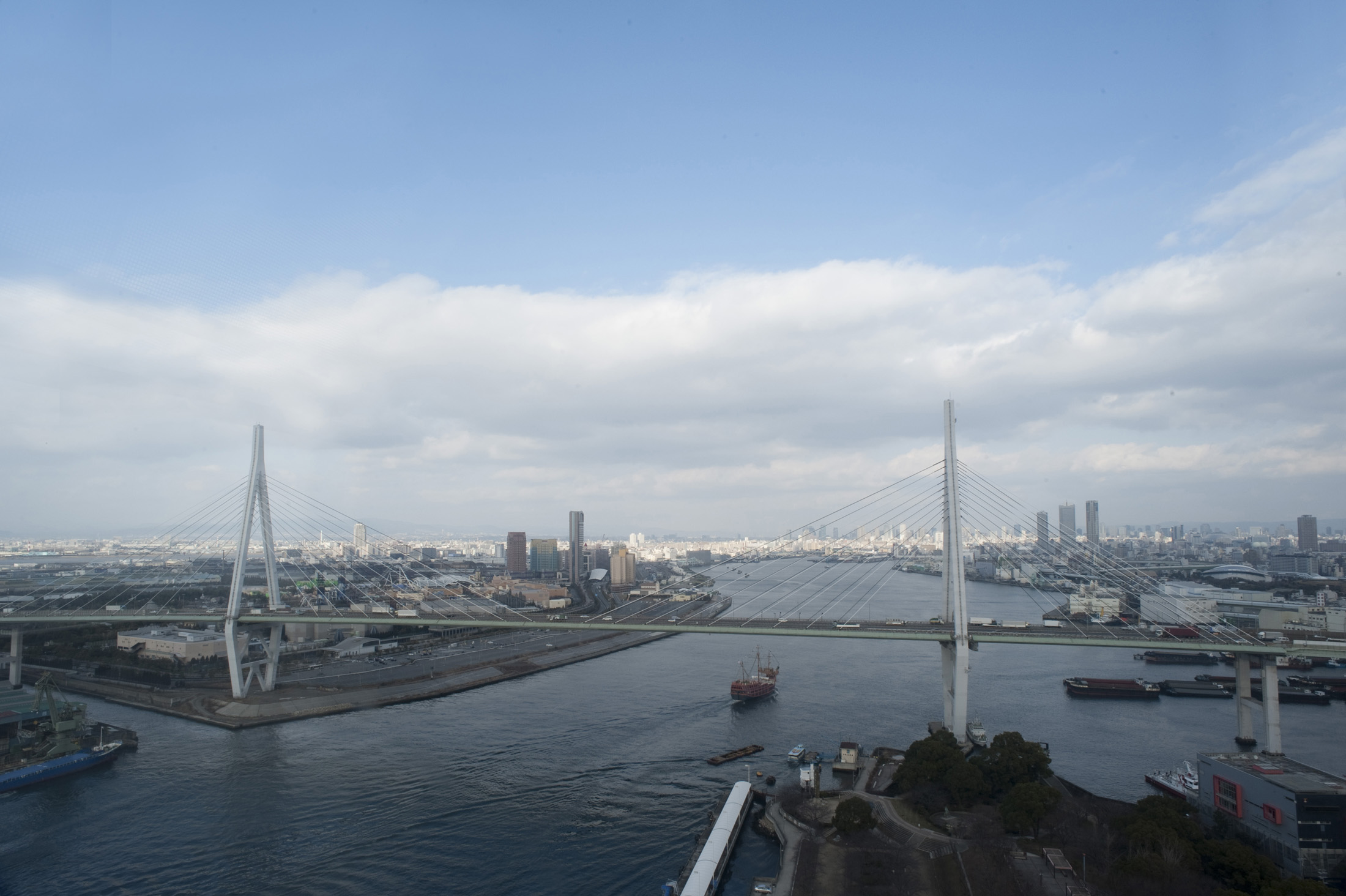 The Tempozan Cable Stay Bridge, Osaka, Japan
