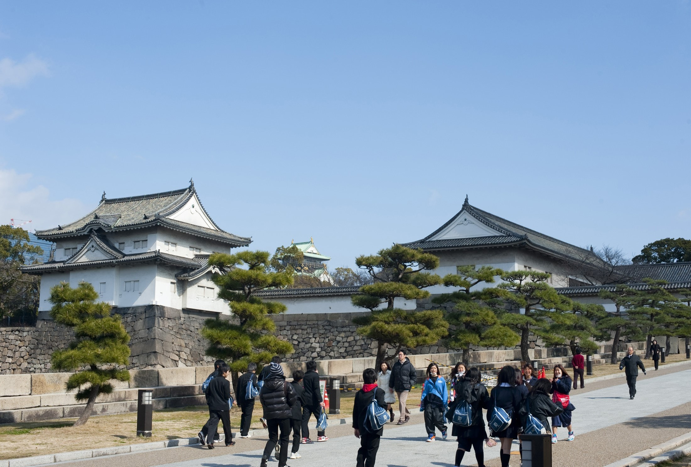 Osaka jo - osaka castle and the otemon - western gate and walls