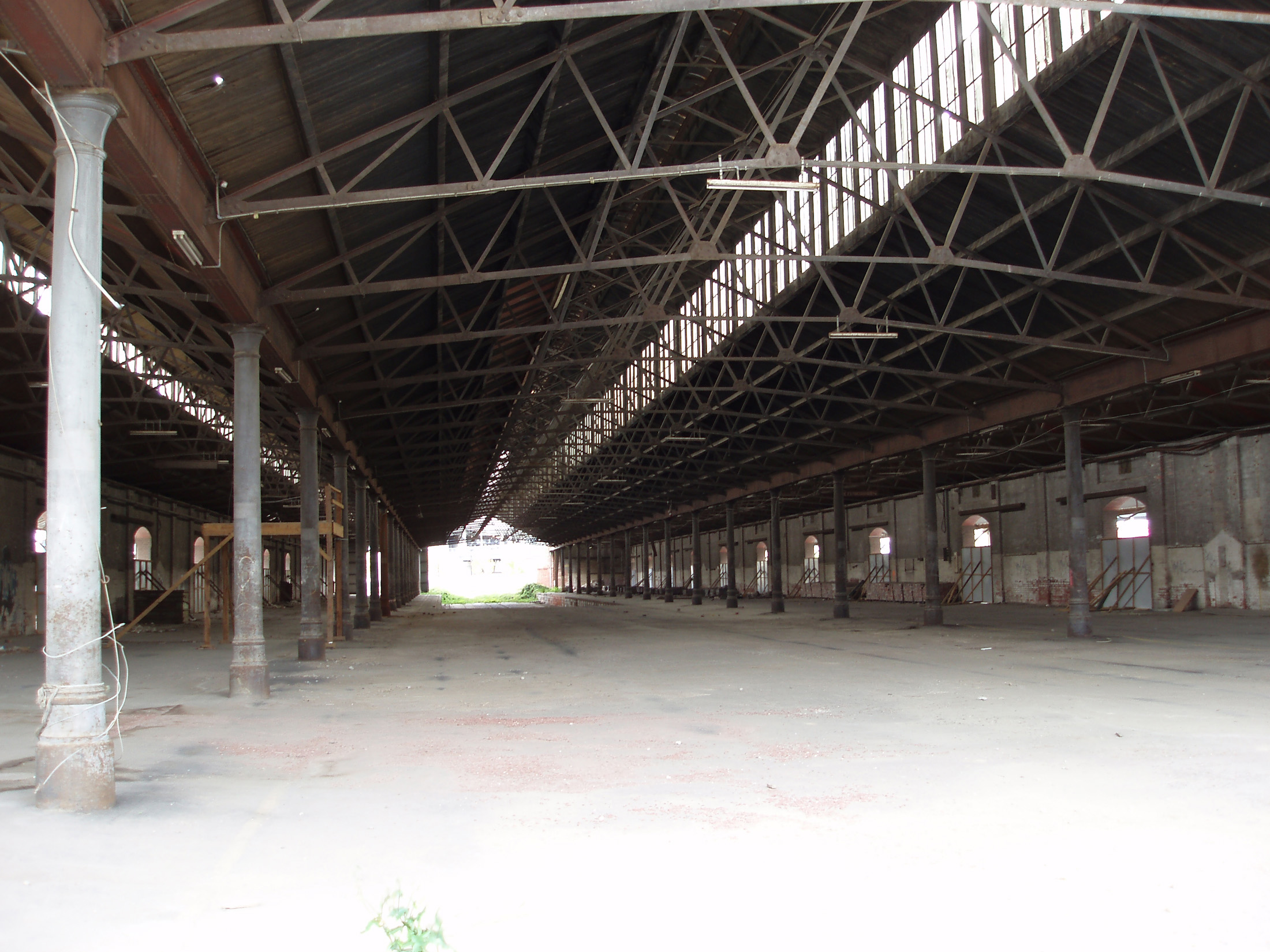 Interior of Abandoned Railway Shed, Southern Cross Station, Looking From One End to the Other, Melbourne, Australia