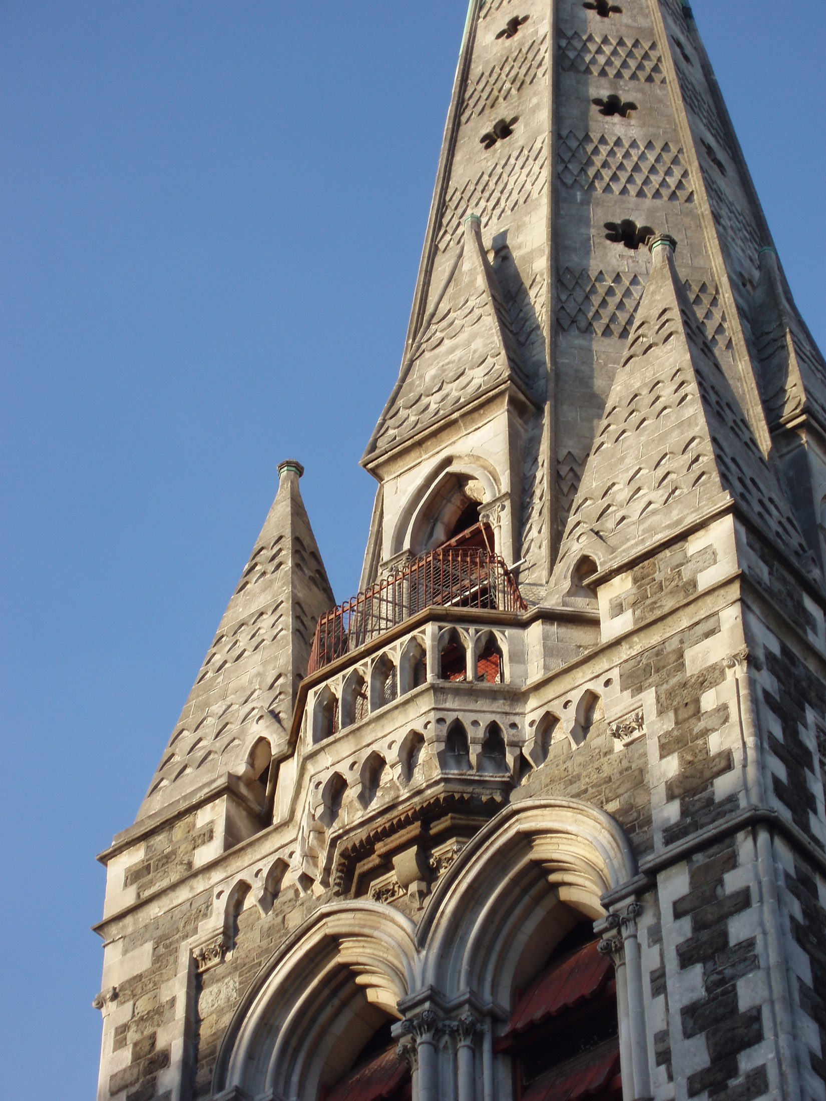 christchurch cathedral tower, newzealand, destroyed in the 2011 earthquake