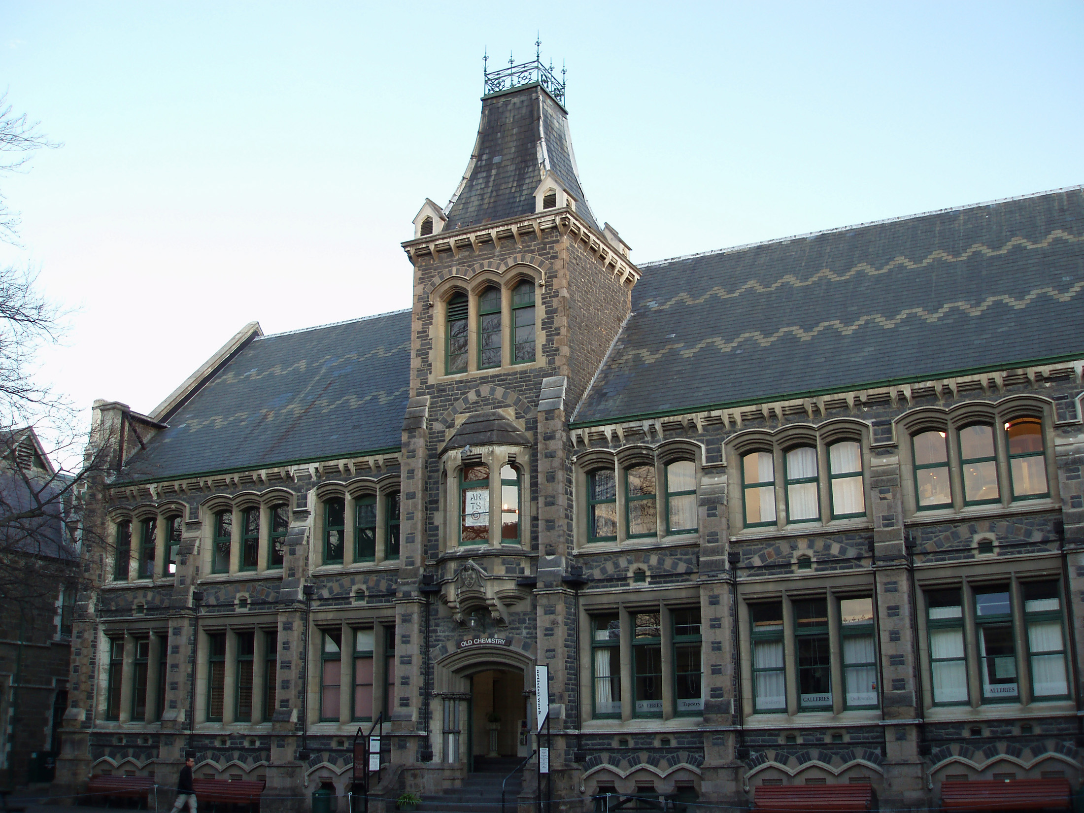 historic former university of canterbury buildings,