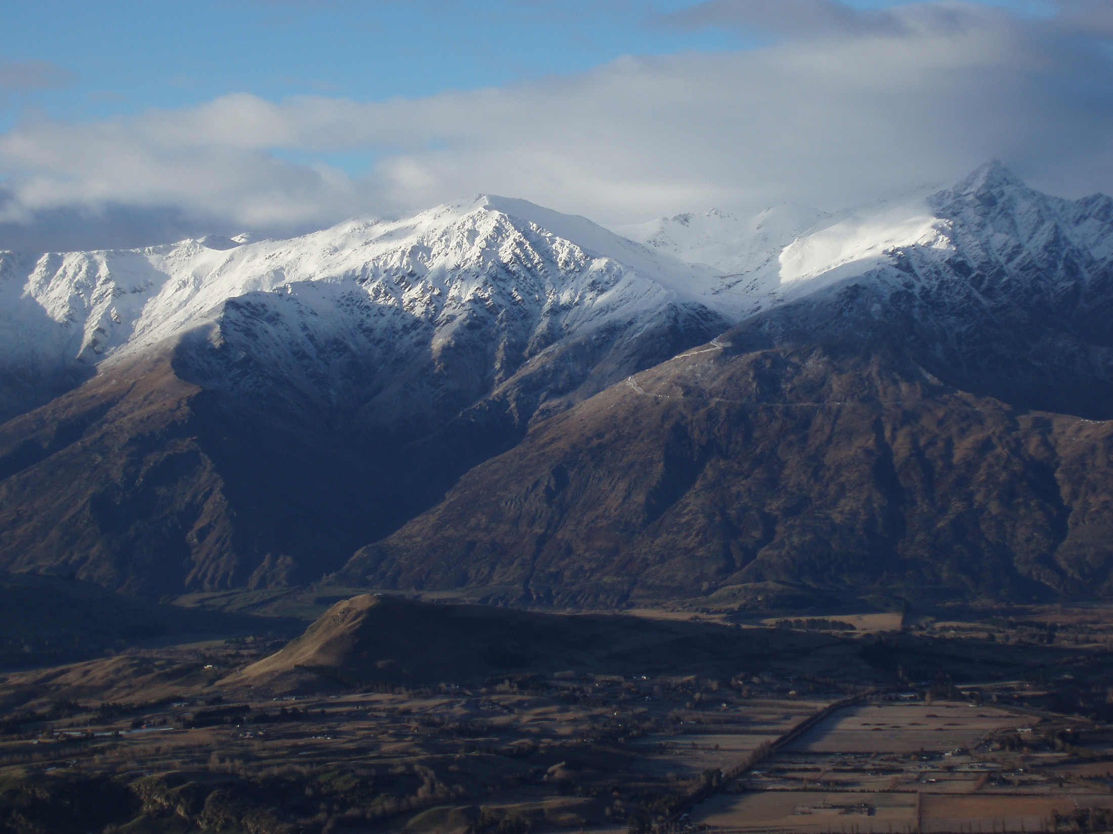 remarkables ski area viewed from coronet peak