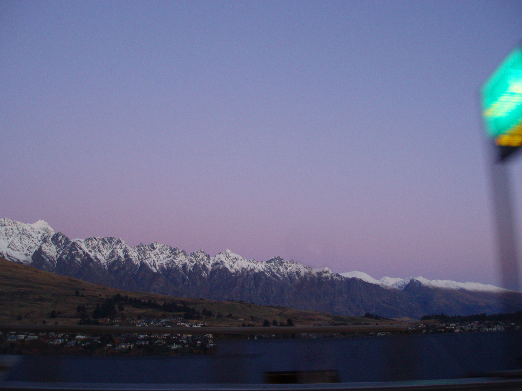 travel concept, the view from the road to queenstown, newzealand