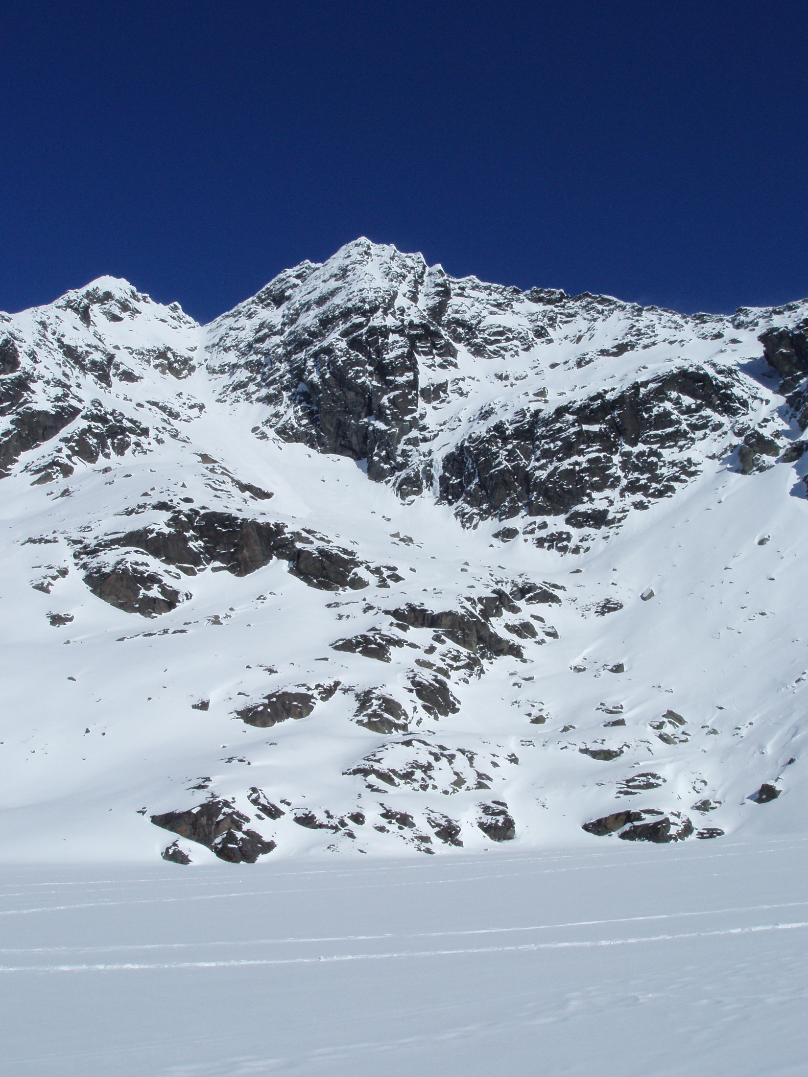 rugged mountains in the remarkables ski area with a fresh covering of snow