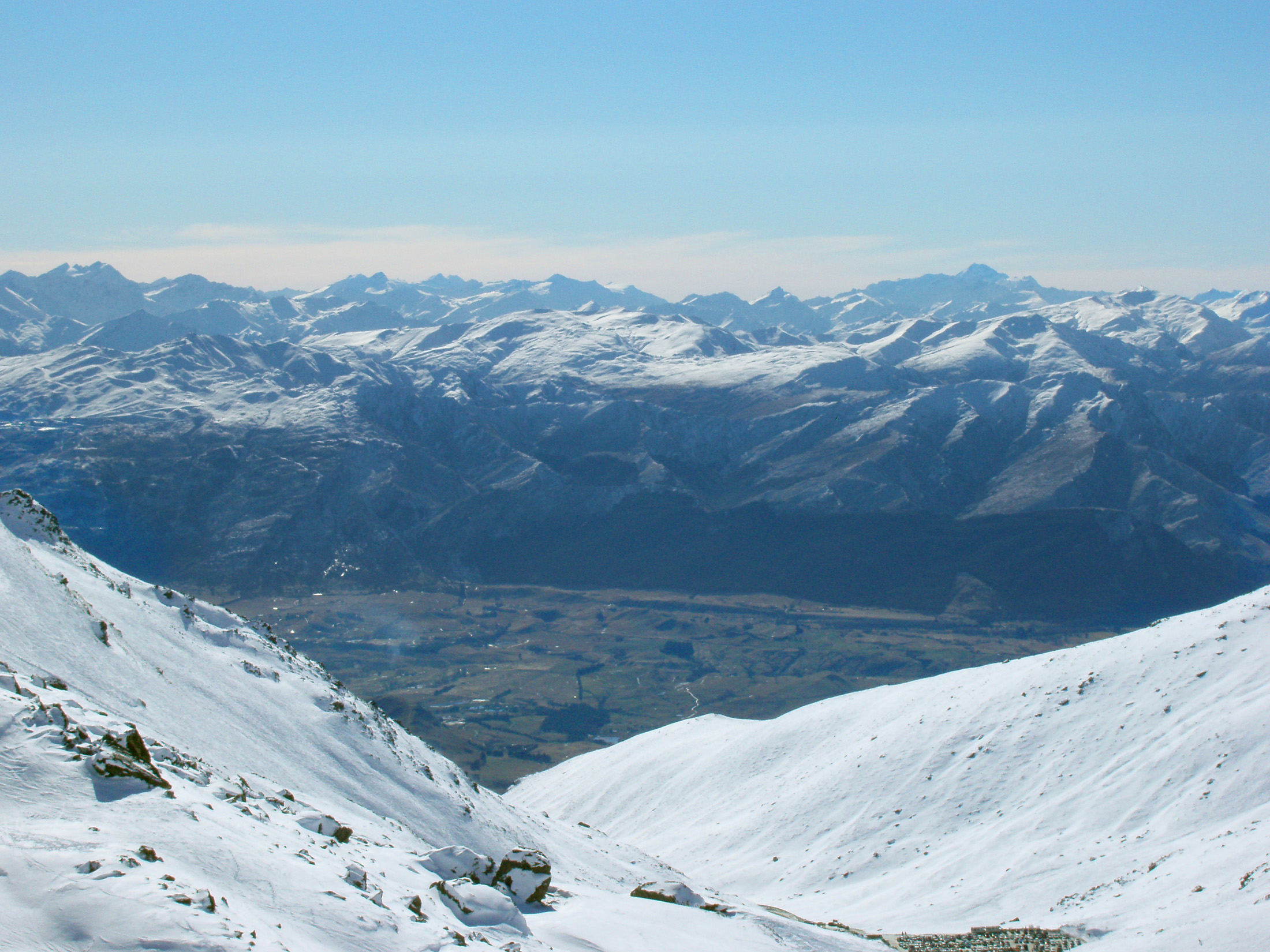 mountain winter sports at the remarkables ski area, queenstown newzealand