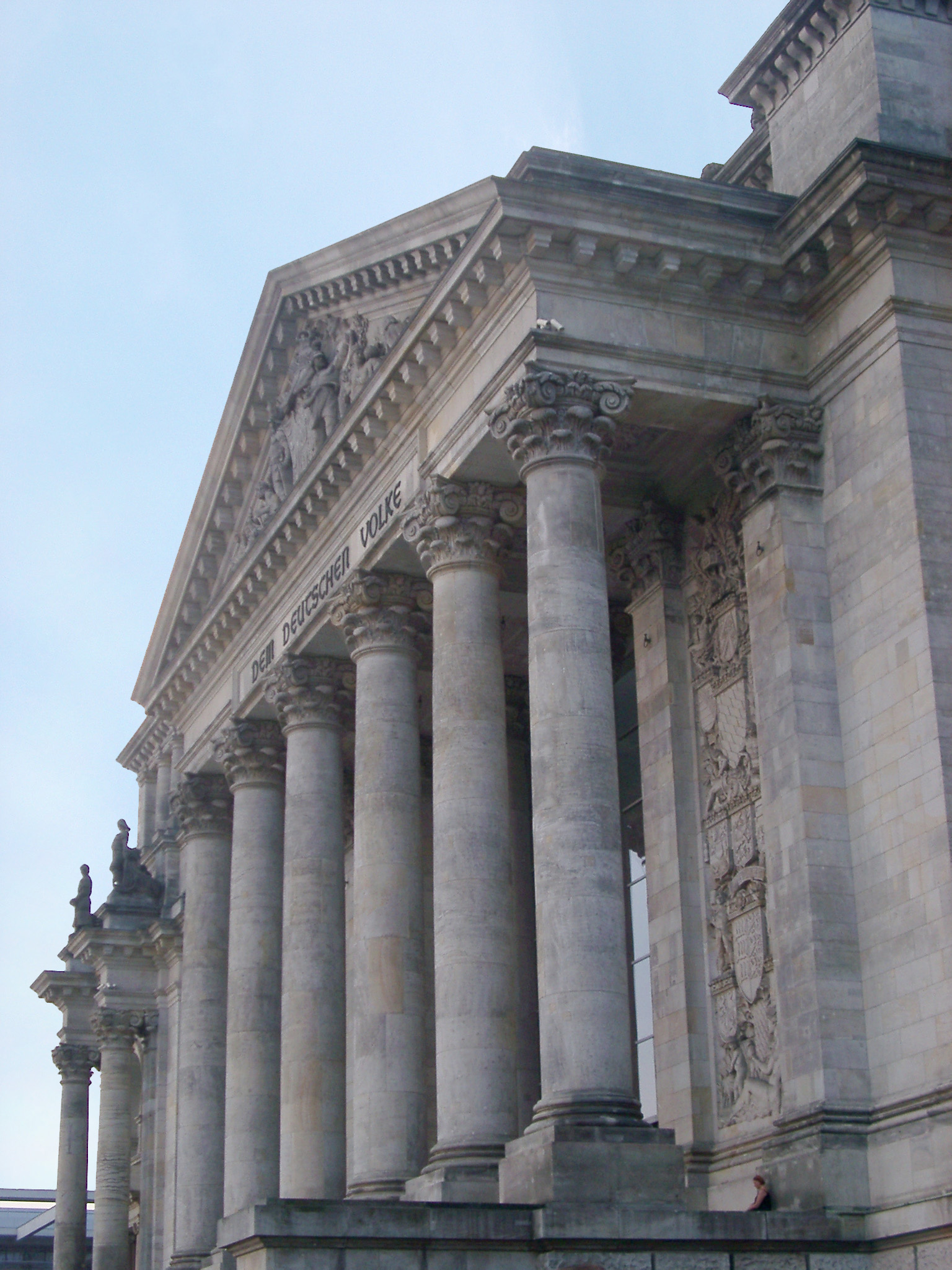Facade of Reichstag Parliament Building in Berlin, Germany