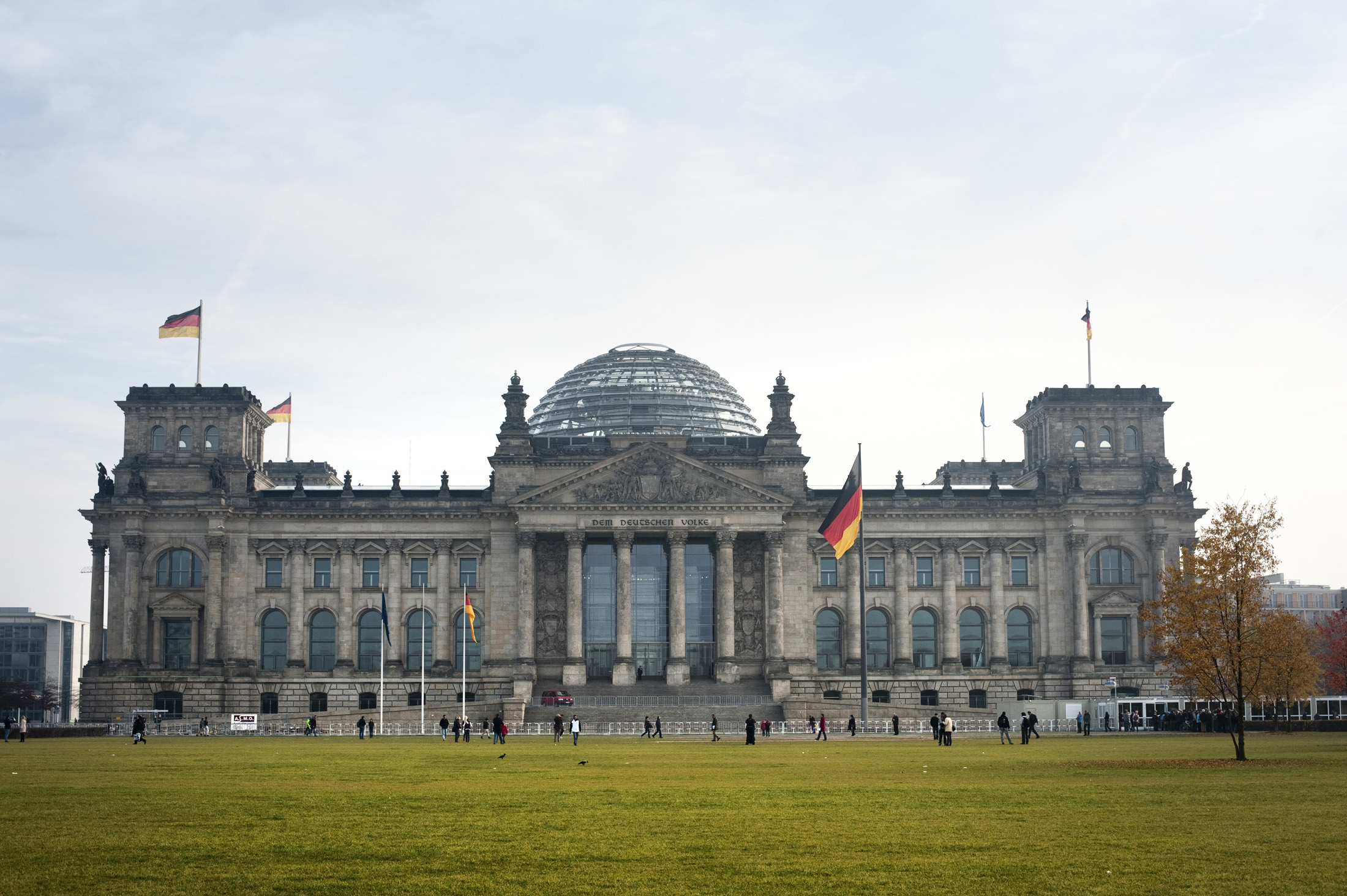 historic facede of the berlin reichstag building, germany