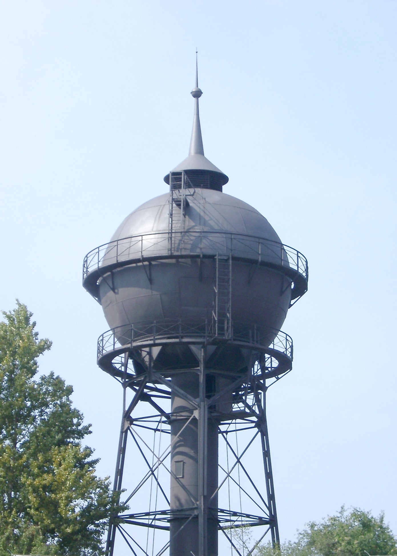 Water Tower at Former Anhalter Freight Yard and Now Part of Deutsches Technikmuseum in Berlin, Germay
