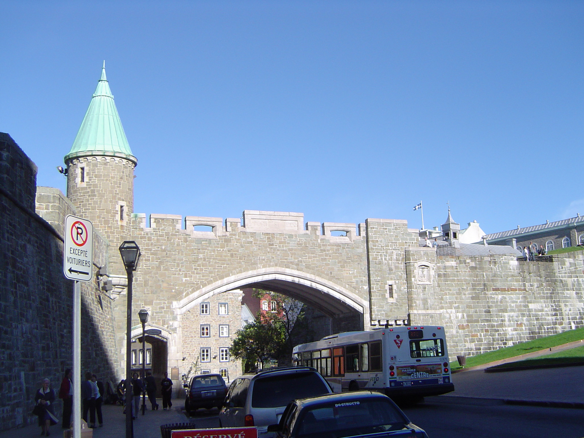 Saint John Gate Fortification in Quebec City, Canada