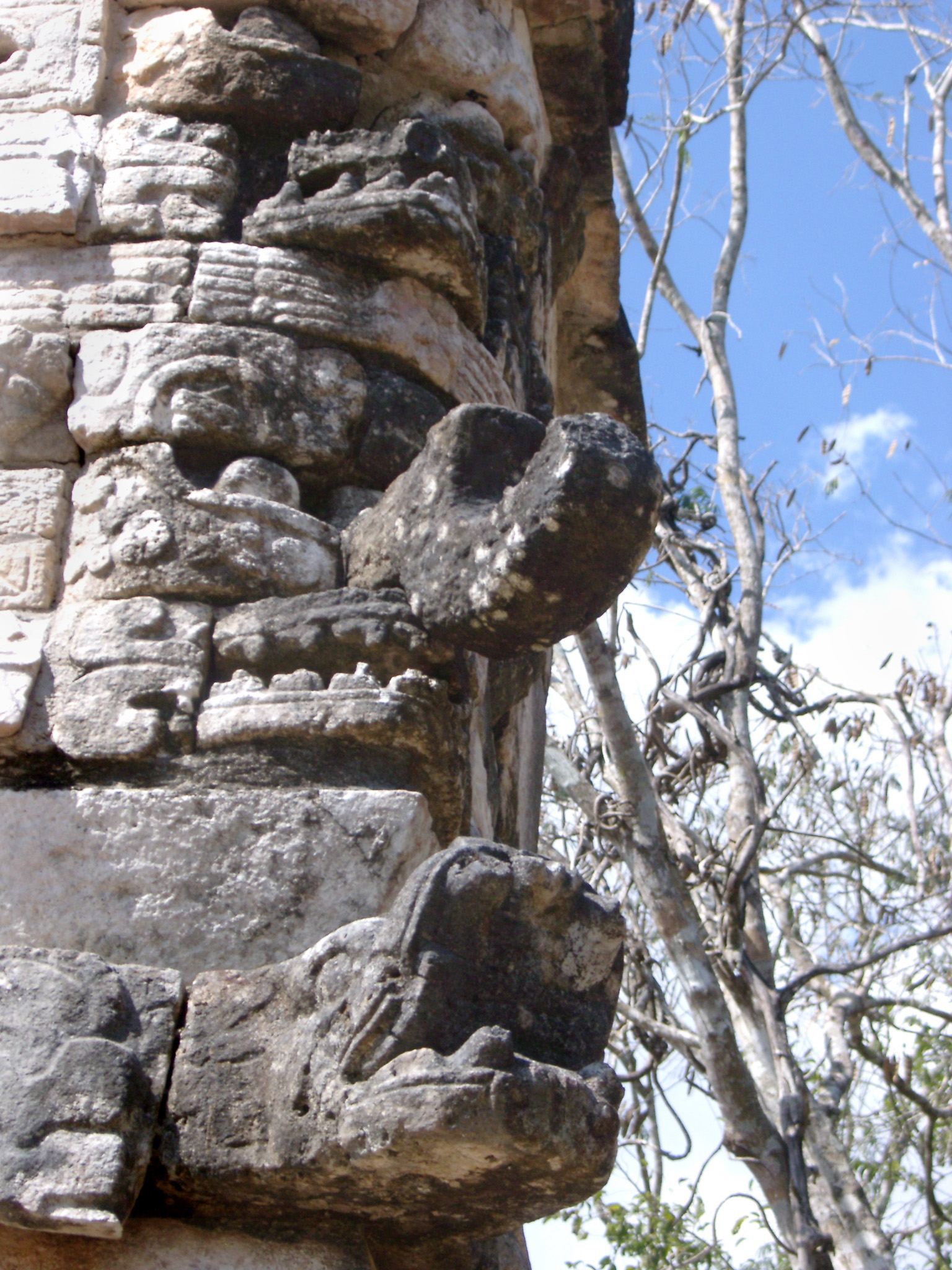 Detail of stone carvings at Chitzen Itza, an important Mayan archaeological site in the Yucatan Peninsula, Mexico