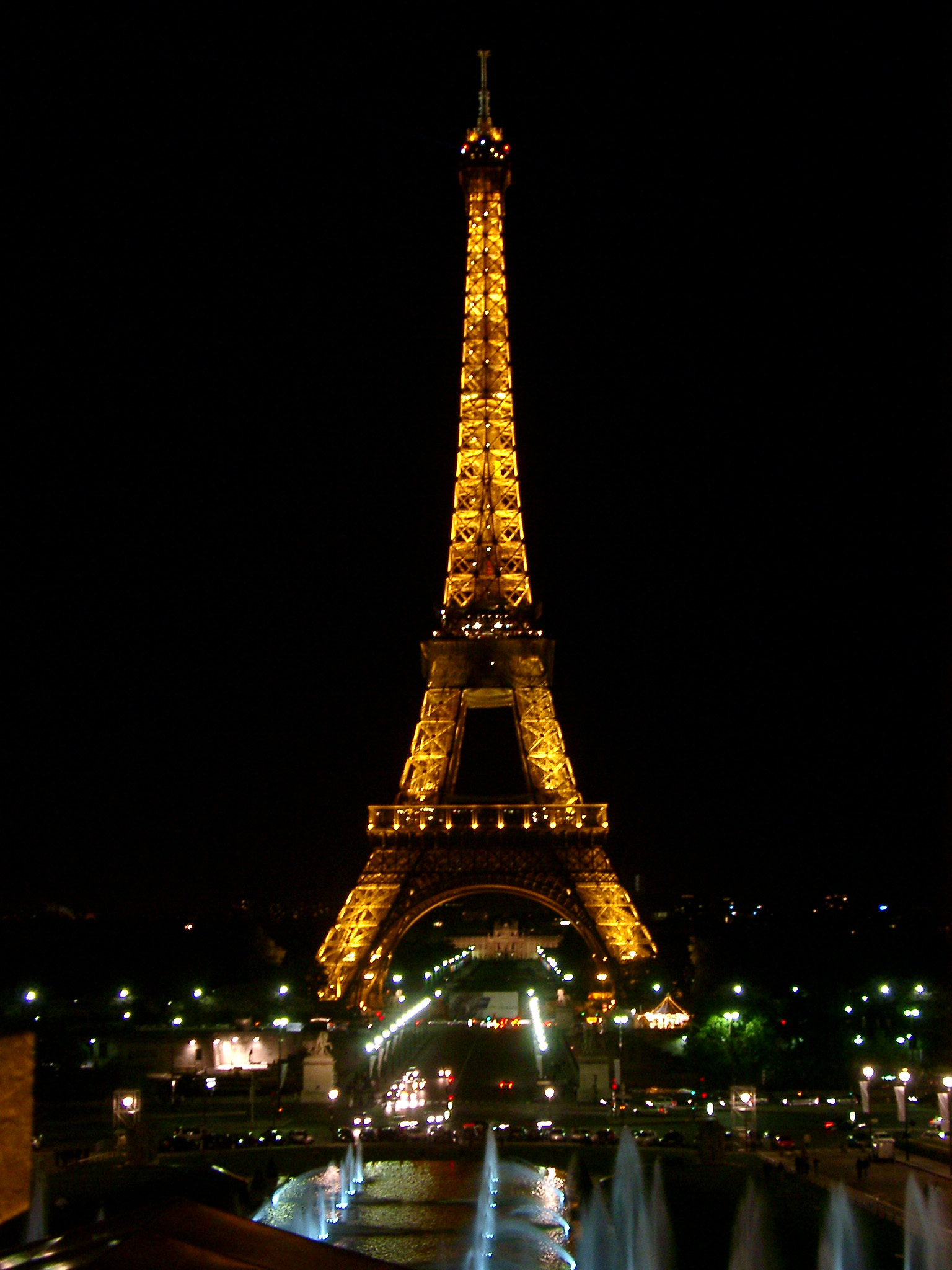 Home west paris photo eiffel tower paris illuminated at night