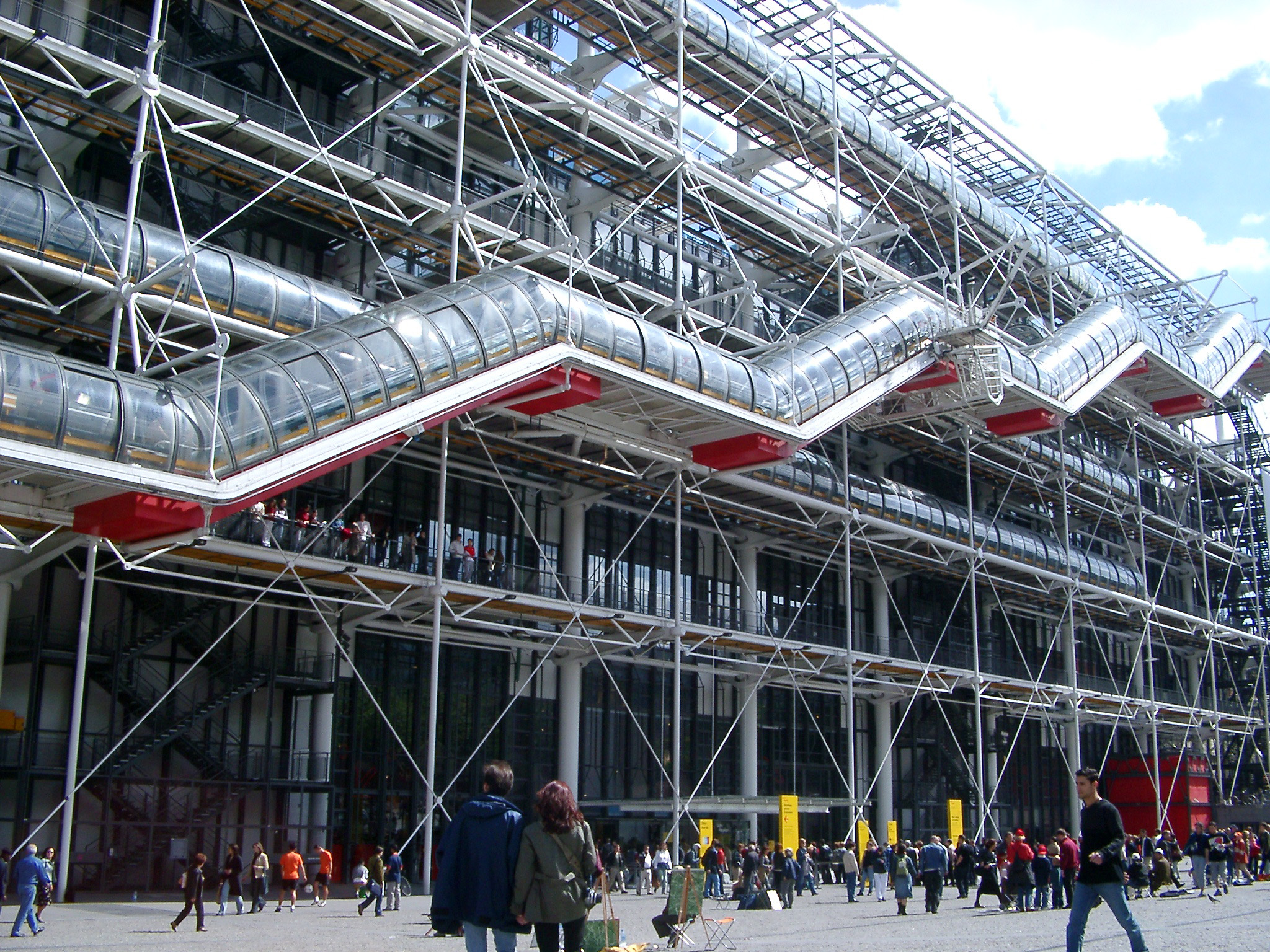 modern exterior of the pompidou centre, paris