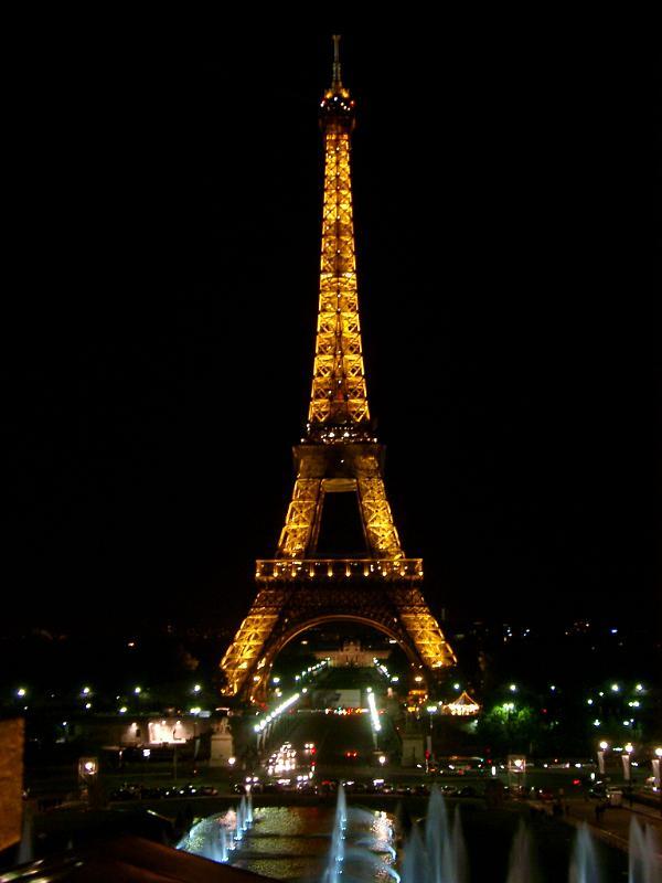 Home west paris photo eiffel tower paris illuminated at night