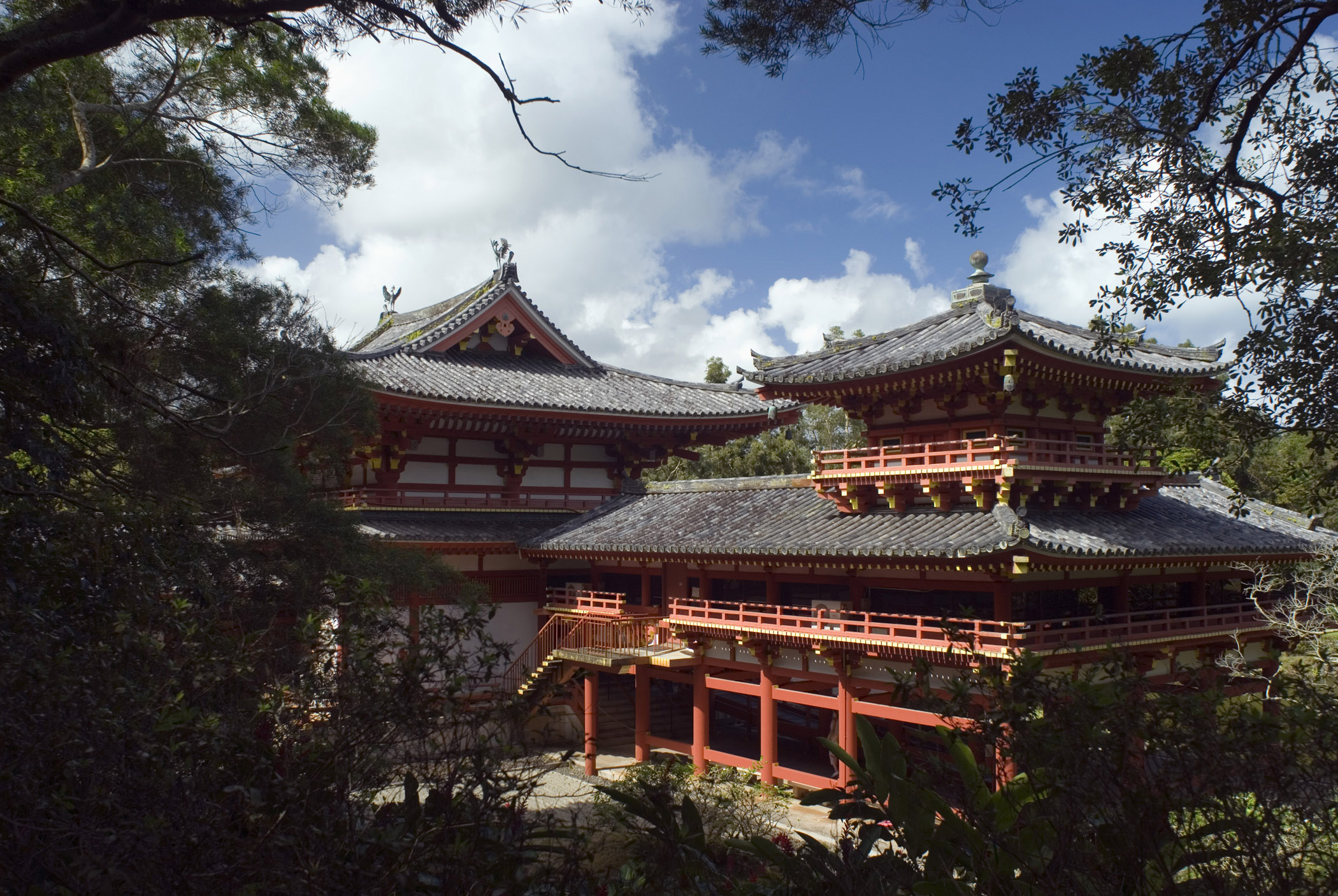 Byodo-In Temple, Hawaii, a replica Japanese Buddhist temple for worship on Ohau