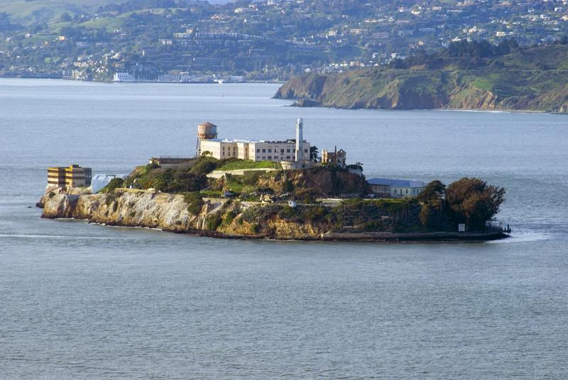 Free Stock photo of Scenic view of Alcatraz Island