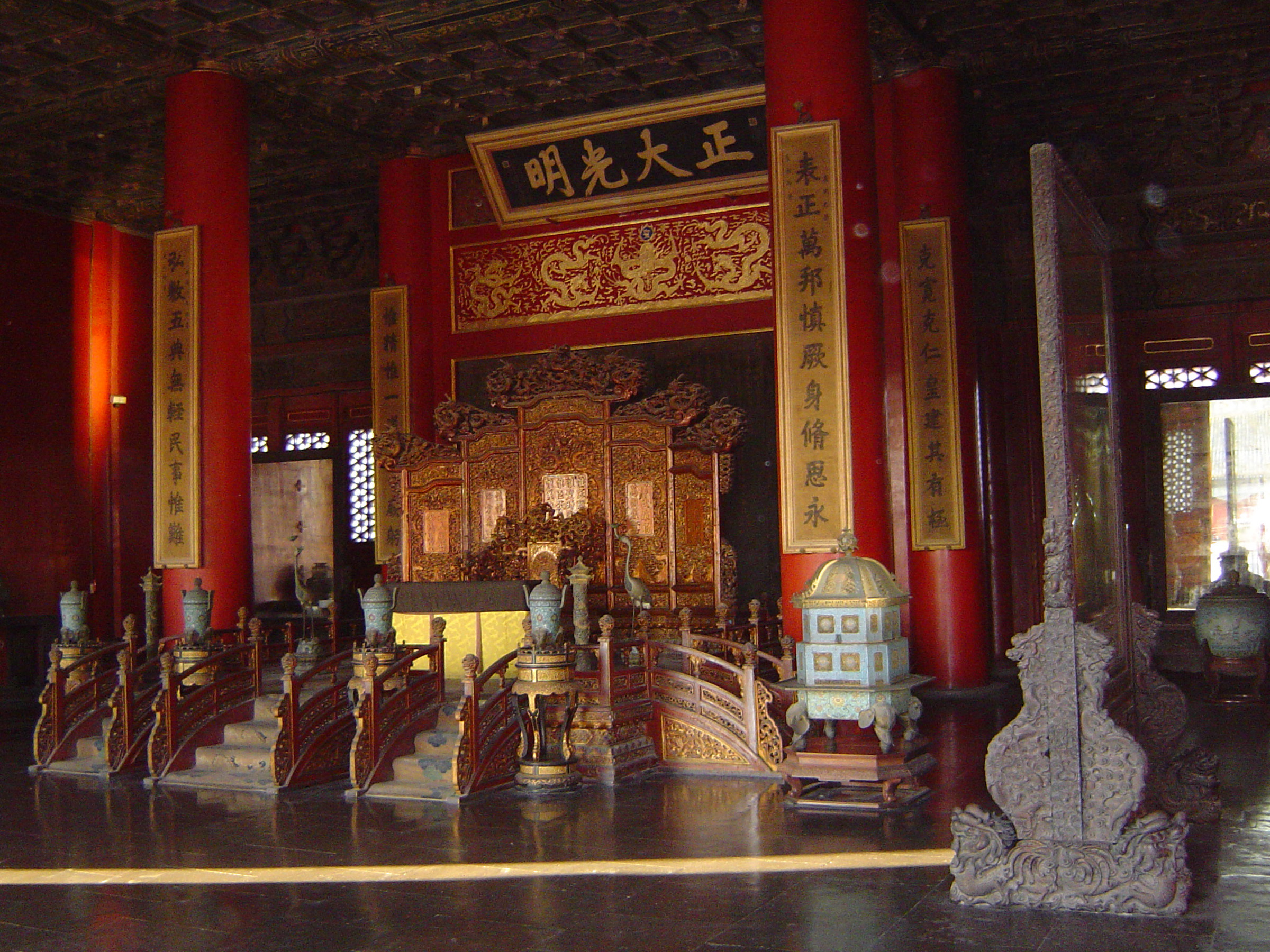 Free Stock photo of Architectural Chinese Temple Interior ...