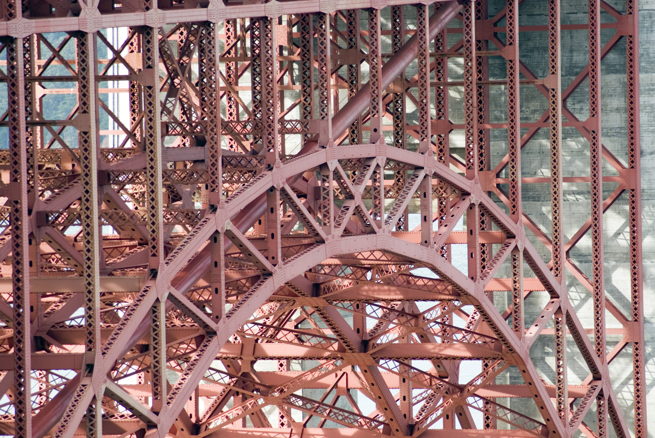 Free Stock Photo Of Detail Of An Arch On The Golden Gate